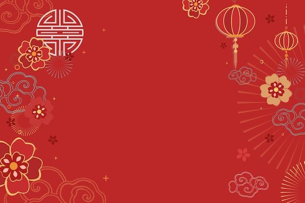 Festlicher roter grußhintergrund der chinesischen neujahrsfeier Kostenlosen Vektoren