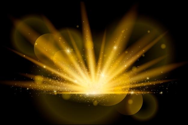Festlicher sonnenaufgang-lichteffekt