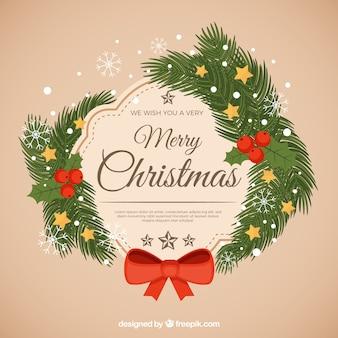 Festlicher weihnachtshintergrund mit niederlassungen