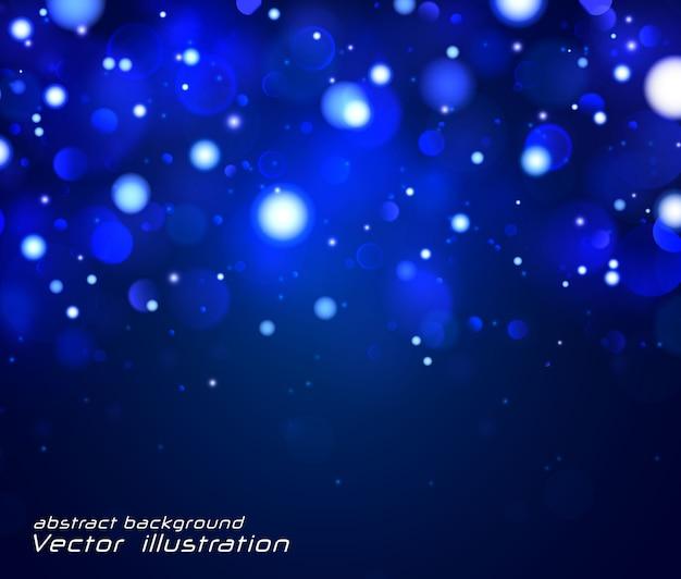 Festliches blau und weiß mit lichter bokeh.