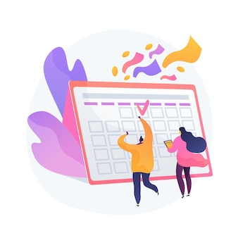 Festliches kalenderereignis, feiertagsfeier. arbeitsplanplanung, projektmanagement, terminidee. büroleiter, begeisterte kollegen.