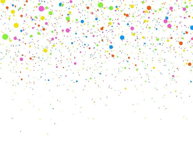 Festliches konfetti zufälliges chaotisches polka dot farbiges serpentin