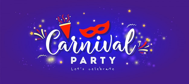Festliches konzept des glücklichen karnevals mit maske