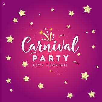 Festliches konzept des glücklichen karnevals