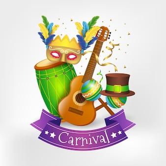 Festliches konzept des realistischen karnevals