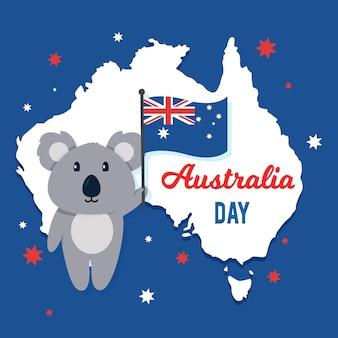Festliches thema für australien-tagesdesign