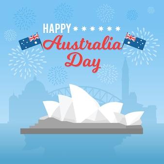 Festliches thema für australien-tageskonzept