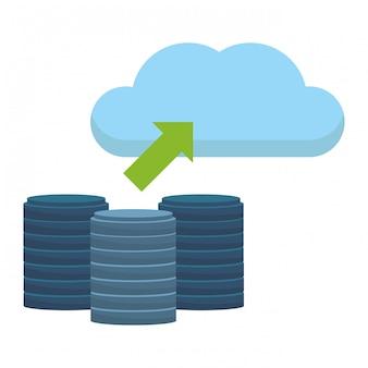 Festplatte mit cloud