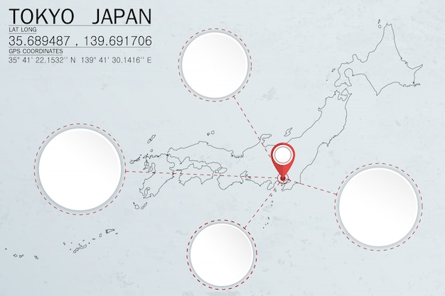 Feststecken in tokyo japan mit kreisraum