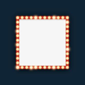 Festzeltlichter in der quadratischen rahmenillustration