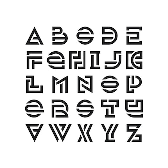 Fett gebrochene lateinische schrift, grafische dekorative schrift, schwarze moderne englische buchstaben.