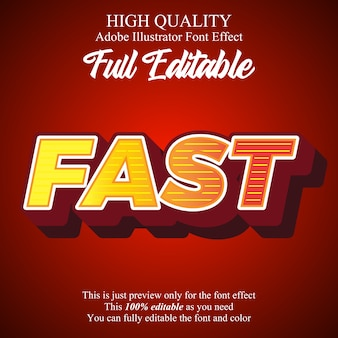Fett mit zeilenweise editierbarem typografie-font-effekt