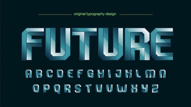 Fett typ squared edges steel typografie