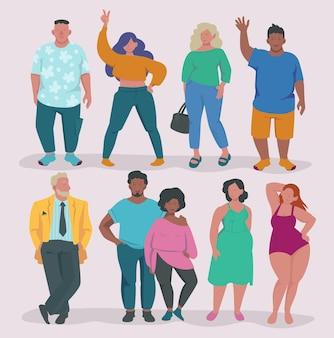 Fetter lebensstil. fetter mann und frau