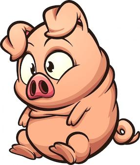 Fettes kleines schwein