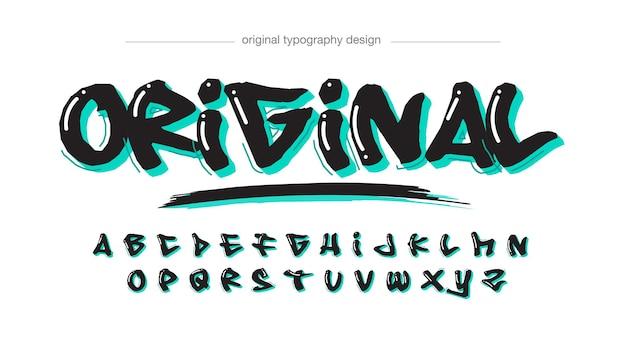 Fettgedruckte graffiti-typografie mit schwarzem marker