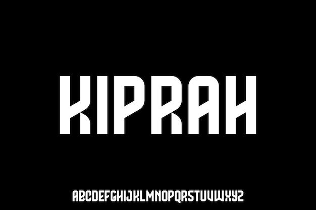 Fettgedruckte komprimierte alphabetschrift