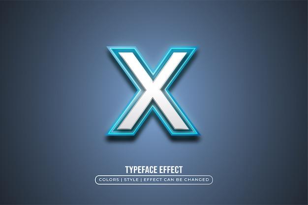 Fettgedruckter textstil mit blauem neoneffekt