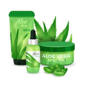Feuchtigkeitsspendende gesichtscreme, serum, körperlotion mit aloe vera extrakt