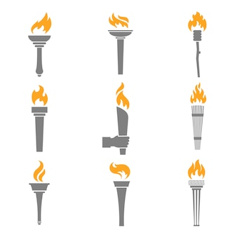 Feuer fackel icons