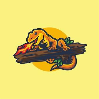 Feuer gecko logo esport gaming design