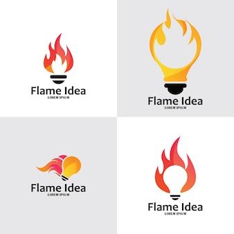 Feuer glühbirne logo design