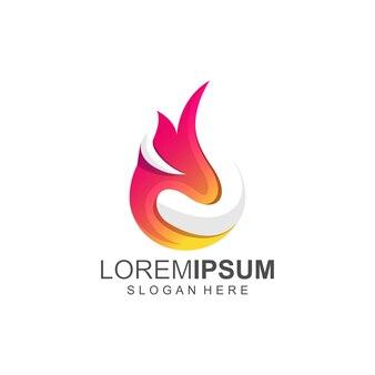Feuer heiße logofarbe