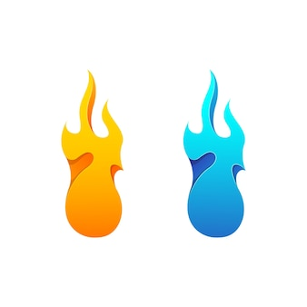 Feuer logo vorlagendesign