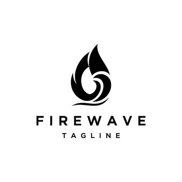 Feuer mit wave-logo-design-inspiration