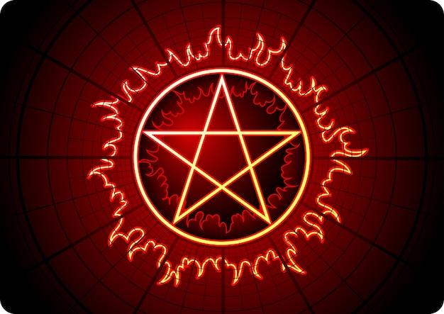 Feuer pentagramm