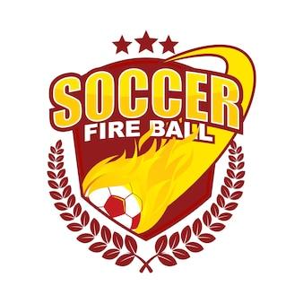 Feuerball-logo-emblem-vektor