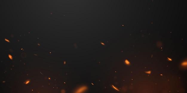 Feuerflammen brennende glühende funken realistischer abstrakter hintergrund