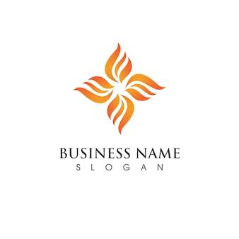 Feuerflammenvektorillustrations-designschablone