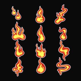Feuerillustrationsbündel