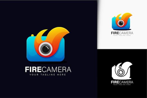 Feuerkamera-logo-design mit farbverlauf
