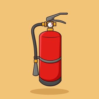 Feuerlöscher art cartoon vector