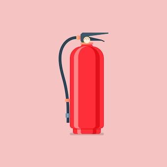 Feuerlöscher im flachen stil