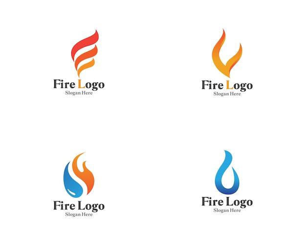 Feuerlogosymbolgas- und -ölvektor