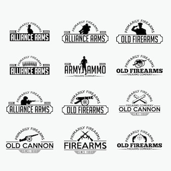 Feuerwaffen etiketten und logo