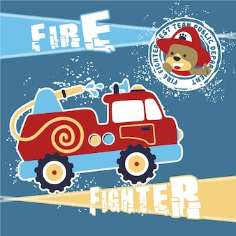 Feuerwehrmann cartoon vektor