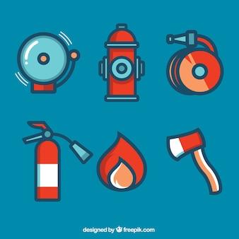 Feuerwehrmann-elemente