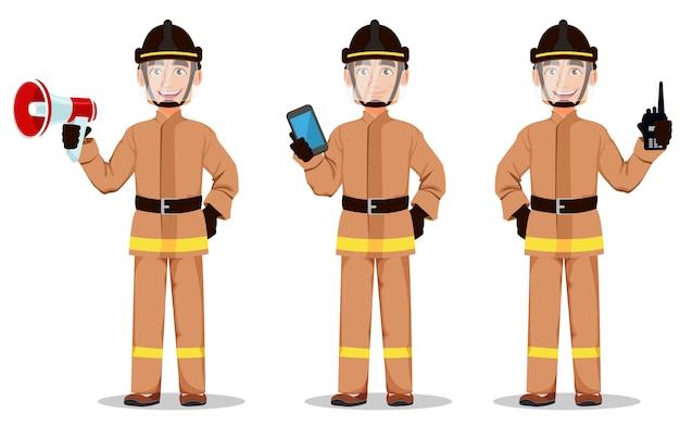 Feuerwehrmann in berufsuniform
