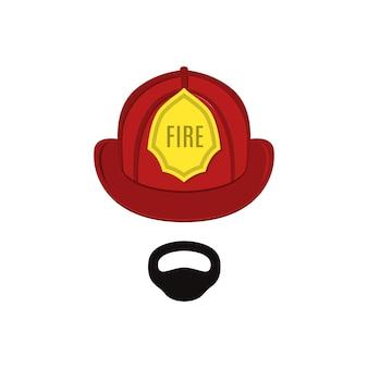 Feuerwehrmann in profi-outfit