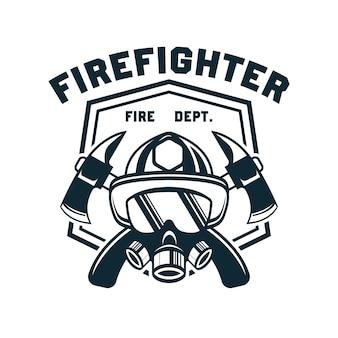 Feuerwehrmann mit textraum für ihren slogan