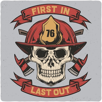 Feuerwehrmann-schädel