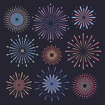 Feuerwerk auf dunklem hintergrund