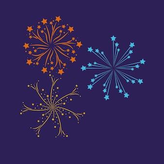 Feuerwerk, das hintergrund birst