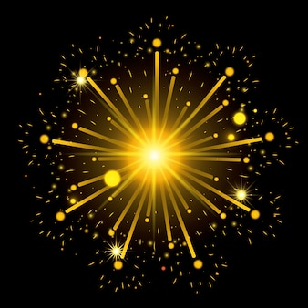 Feuerwerk, das schwarzen hintergrund birst