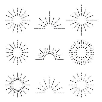 Feuerwerk, dekoration funkeln, glänzende blitzillustration.