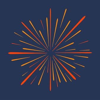 Feuerwerk festliche grußfeier explosion jubiläum platzt isoliert auf dunklem hintergrund